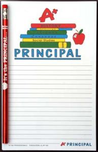 A+ Principal - Note Pad and Pencil Set