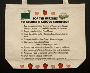 School Counselor Top 10 Totebag