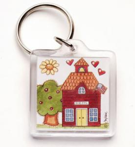 Teachers Are the Heart of Learning - Key Chain