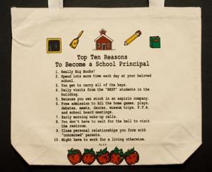 School Principal Top 10 Totebag