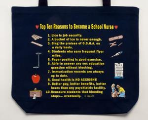 School Nurse Top 10 Totebag