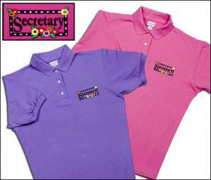 Secretary Flower Polo Shirt