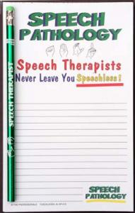 Speech Therapist Never Leave You Speechless - Note Pad and Pencil Set