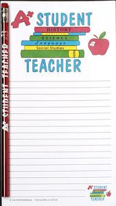Student Teacher Notepad Set - Note Pad and Pencil Set