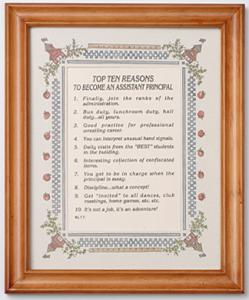 Top Ten Reasons to Become a School Secretary Frame
