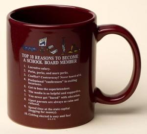 School Board Member Top 10 Reasons Mug