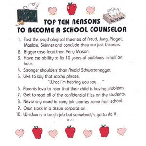 Top Ten Reasons To Become a School Counselor Sweatshirt