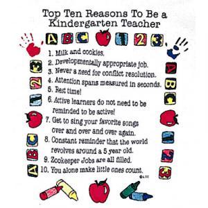 Top Ten Reasons To Become a Kindergarten Teacher Sweatshirt