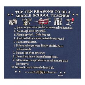 Top Ten Reasons To Become a Middle School Teacher Sweatshirt