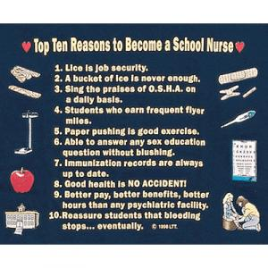 Top Ten Reasons To Become a School Nurse Sweatshirt