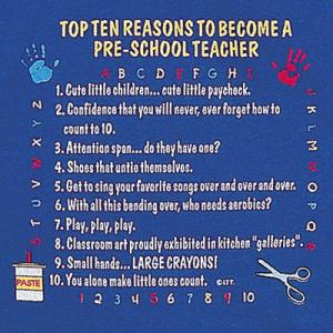 Top Ten Reasons To Become a Pre-School Teacher Sweatshirt