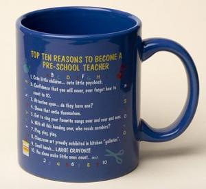 Pre-School Teacher Top 10 Reasons Mug