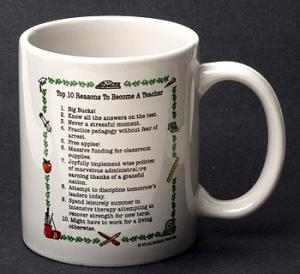 Teacher Top 10 Reasons Mug