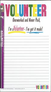 Volunteer  Notepad Set - Note Pad and Pencil Set